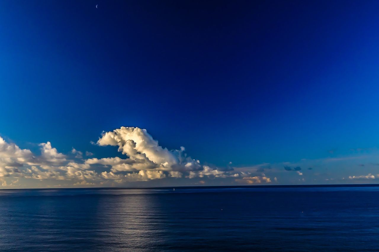 Sea Blue Beauty In Nature Scenics Nature Sky Horizon Over Water Tranquility Tranquil Scene Water No People Outdoors Day