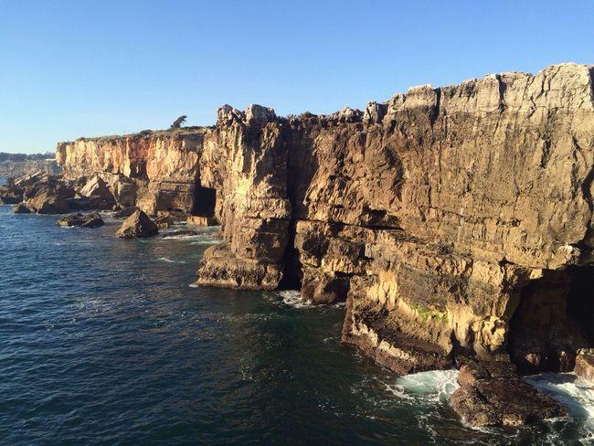 The Great Outdoors - 2016 EyeEm Awards Portugal Blue Sky Rock Formation Rocks Raven Sea Sea And Sky Landscape CF Seashore Cascais Boca Do Inferno