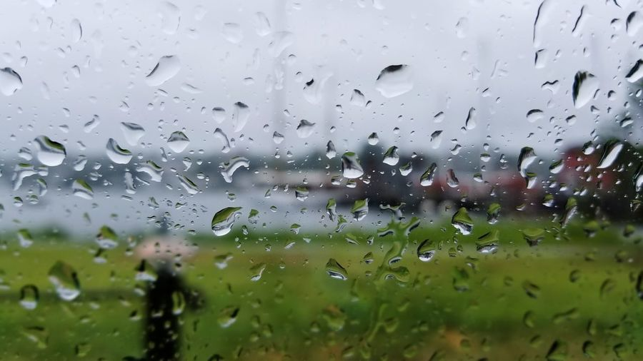 Mystic Raindrops. Drop Window Wet Water No People Backgrounds Day Indoors  Rain RainDrop Close-up Nature Seaport District EyeEm Best Shots