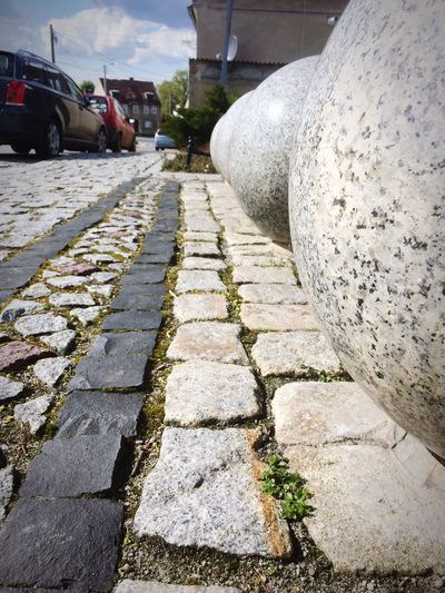 Car Blockades. Day Architecture Built Structure The Way Forward No People Outdoors Nature Sky Poland Marble Marbledstone Symmetry