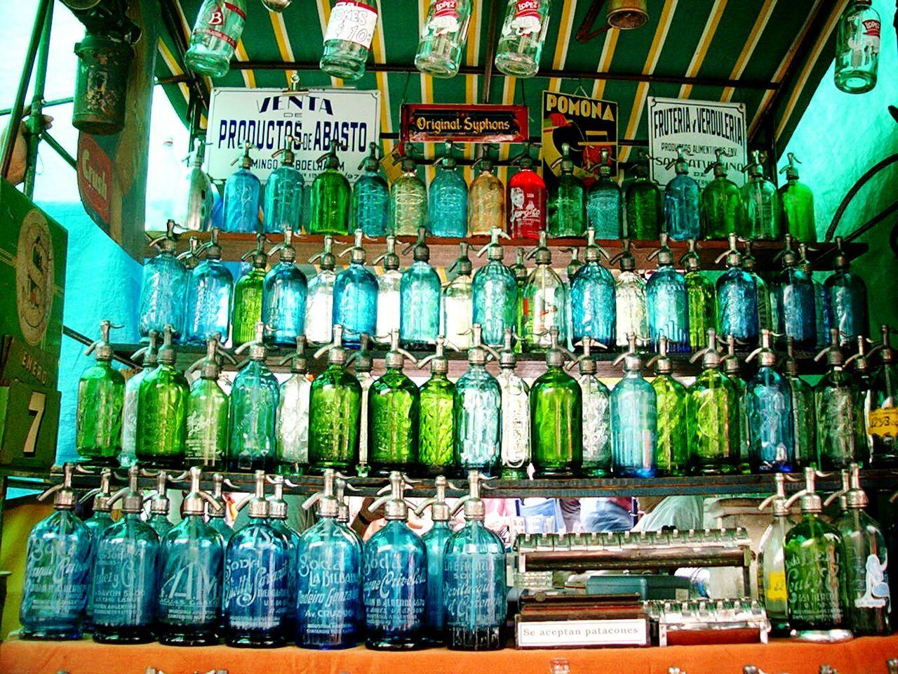 Sifones! Siphons! Antiques. Antiques Fair Plaza Dorrego. Flea market, San Telmo, Buenos Aires, Argentina Unykaphoto Flea Market Plaza Dorrego San Telmo Buenos Aires Buenos Aires Emblematic Places Buenos Aires Citytour