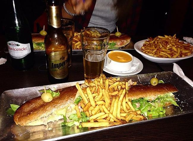 Food Sandwich Potatochips Beer Goodnight Gooddinner Friends ❤ Fatgirls Fatlife✌