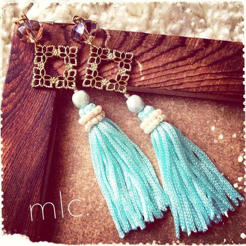 """square tassel"" Handmade Handmade By Me Handmade Jewellery Mlc.handmade Accessory"