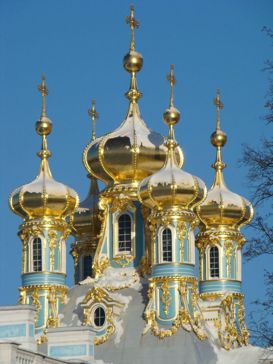 Russia Sanpietroburgo Luxury Summerresort Gold Church EyeEm Best Shots Pastel Power