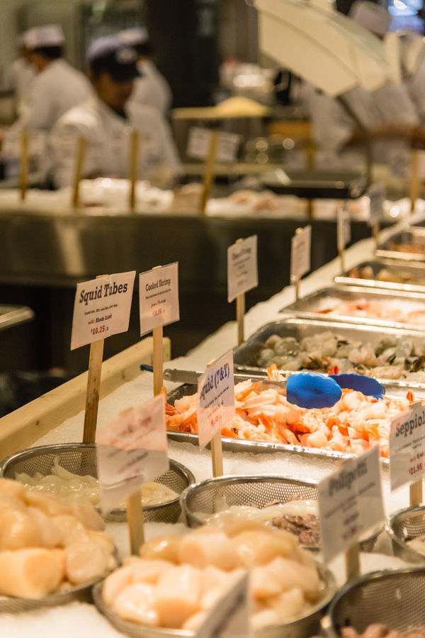 Buying Fish Food Chelsea Market Fish Food Food Foodphotography For EyeEm Foodies. Meatpacking District New York Shrimps Sushi USA