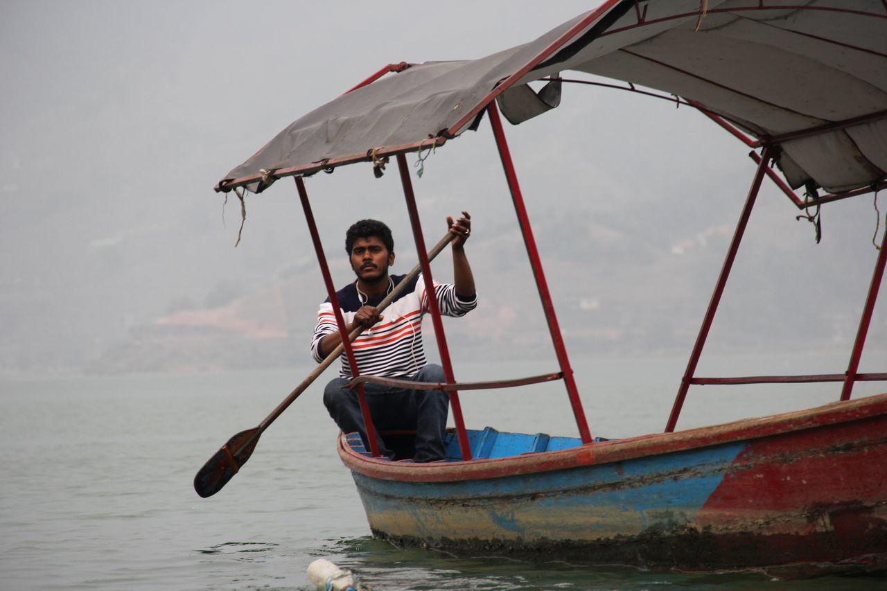 Boatman One Man Only Young Adult Local Life Phewa Lake Pokhara!