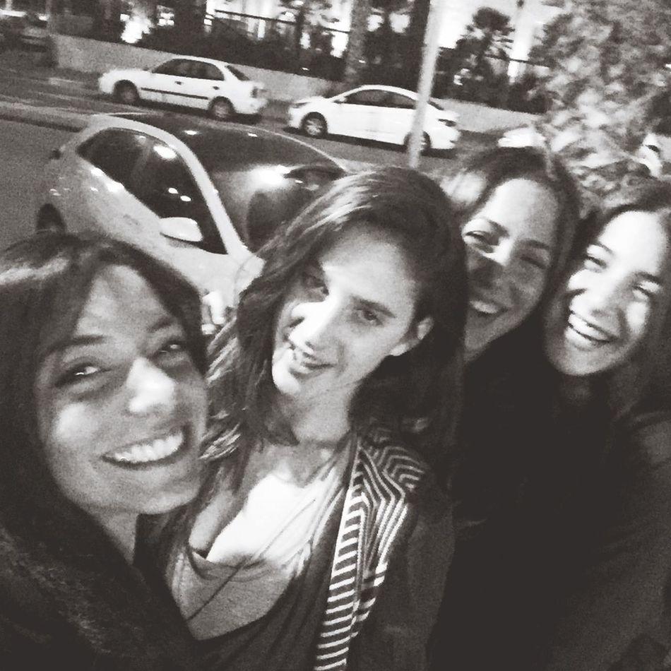 Blackandwhite with my girls<3