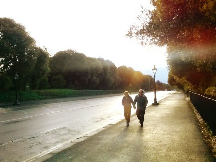 Couple Togetherness Lomo Walking Love Park