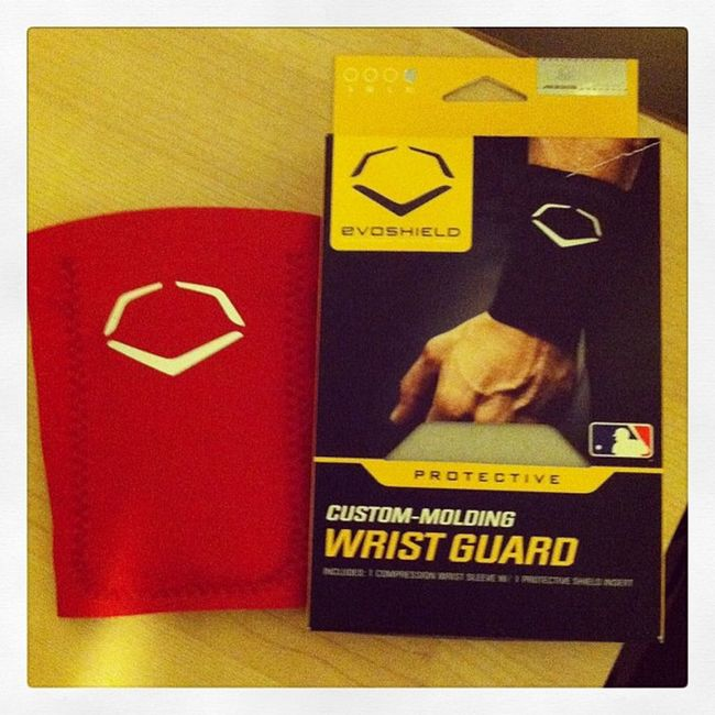 Evoshield Red Saints Wristguard best sick baseball