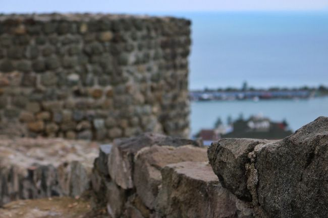 Textured  Focus On Foreground Water Sea Rock - Object Travel Destinations Tranquil Scene Weathered Tourism Sky Tranquility Outdoors Shore Nature Rock Formation Day Vacations Scenics Cliff Coastal Feature Castle Rize/Turkey Karadeniz Rizekalesi