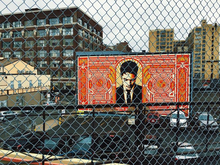 Barbed life IPhoneography Showcase March Philadelphia Shepard Fairey Street Art