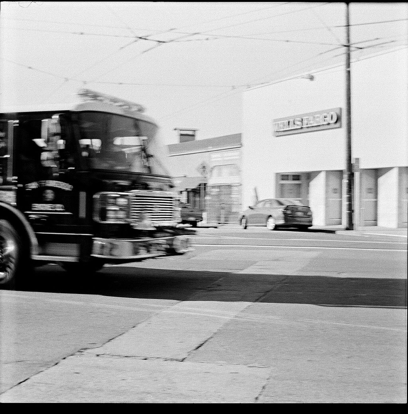 Transportation Blurred Motion Motion Semi-truck Driving Truck No People Belair Panorama Koduckgirl Blk N Wht 6x6 Square Film