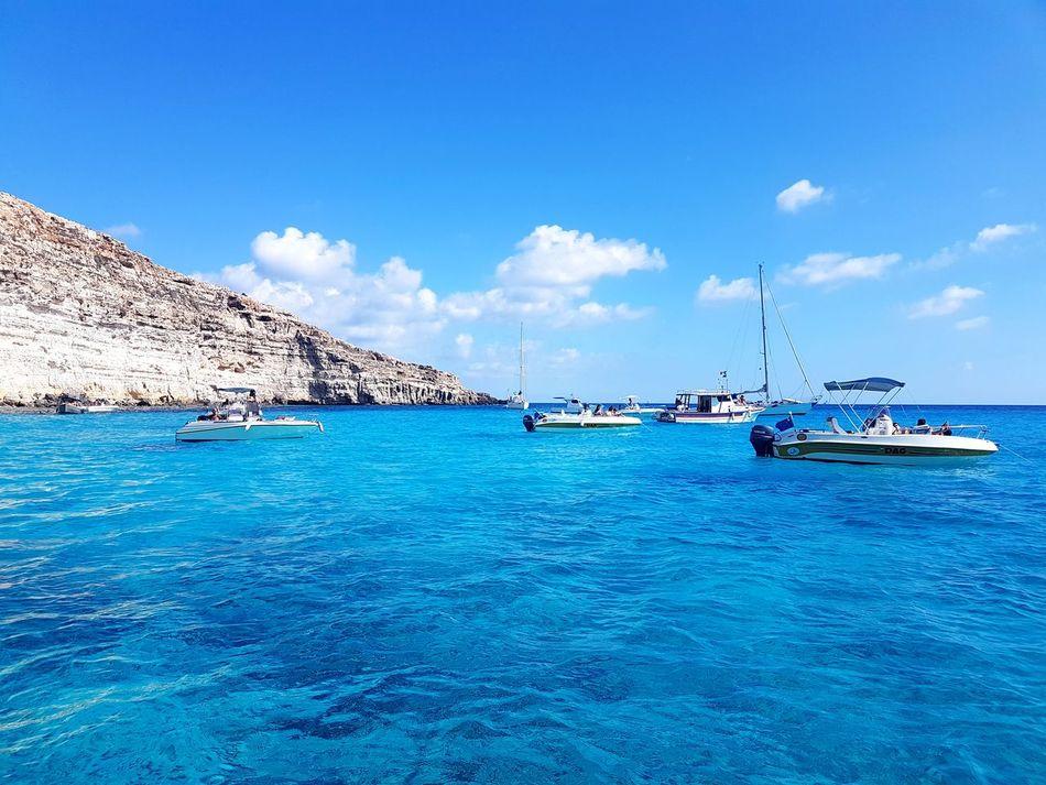 Summer Sea Sailboat Water Blue Travel Destinations Travel Idyllic EyeEm Outdoors EyeEmBestPics EyeEm Best Shots EyeEm Gallery EyeEm Selects Yacht Tranquility Vacations Tabaccara - Lampedusa EyeEmNewHere