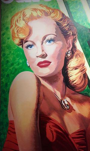 Peinture Peintre Rancillac Peint Woman Portrait