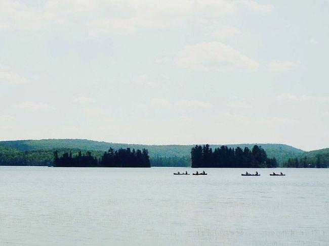 Canoeing Canoes Algonquinprovincialpark Algonquin Park Lake