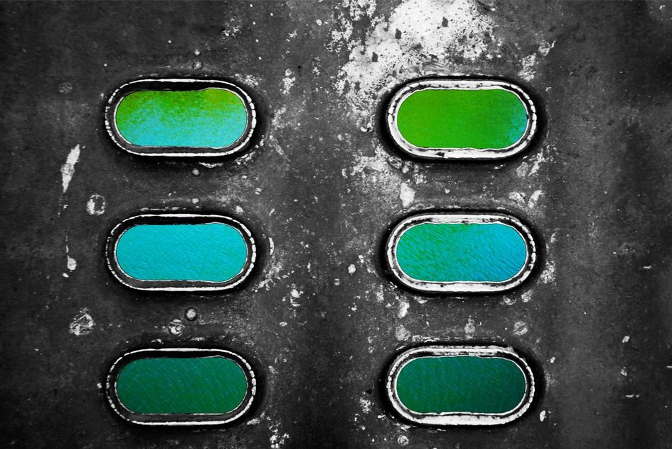 Pattern Full Frame Green Color Close-up Metal Textured  No People Backgrounds Day Outdoors