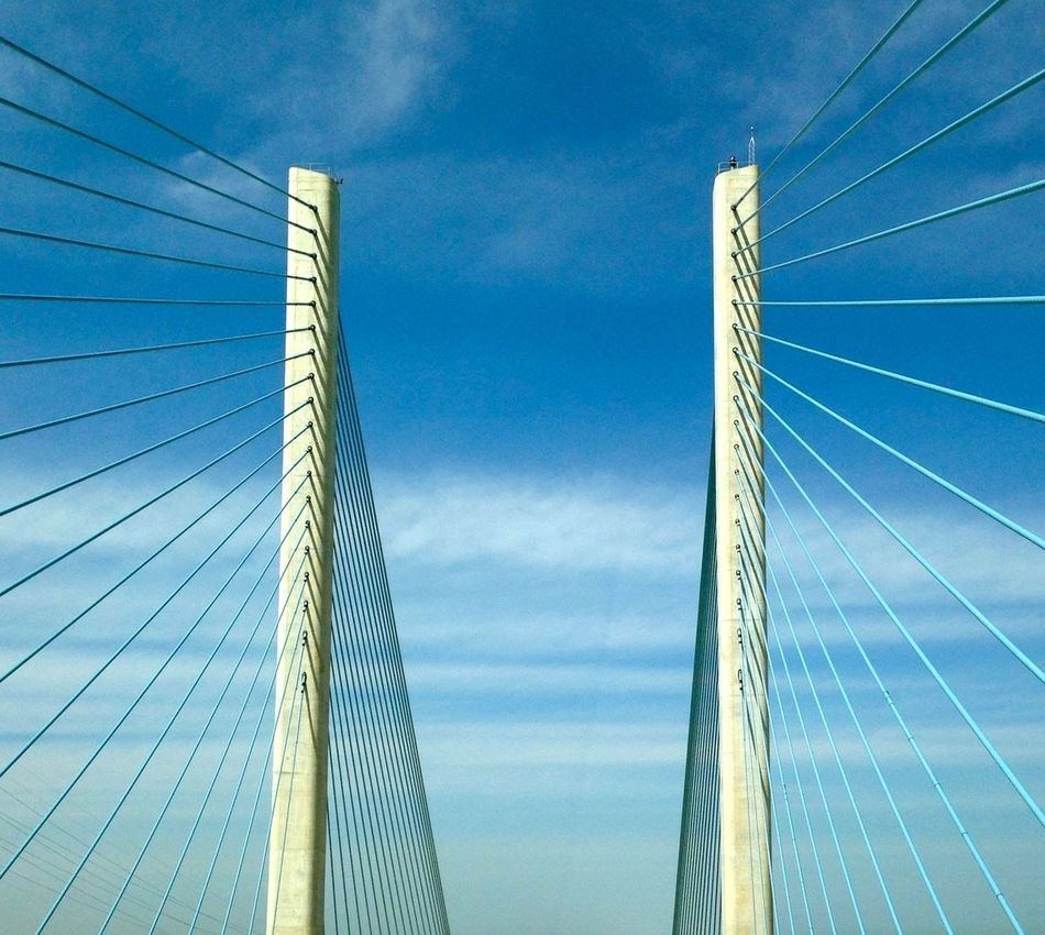 """""""Rehoboth Bridge"""" Architecture Built Structure Cloud - Sky Day Low Angle View No People Outdoors Sky"""