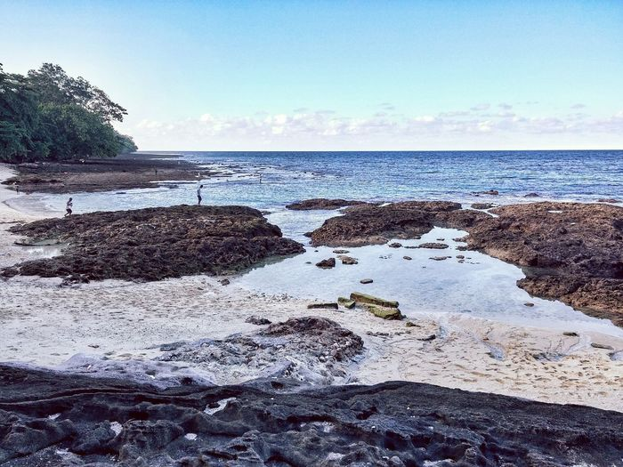 Rocky Beach during Low Tide, Landscape Photography using LG G3 in Papua Manokwari