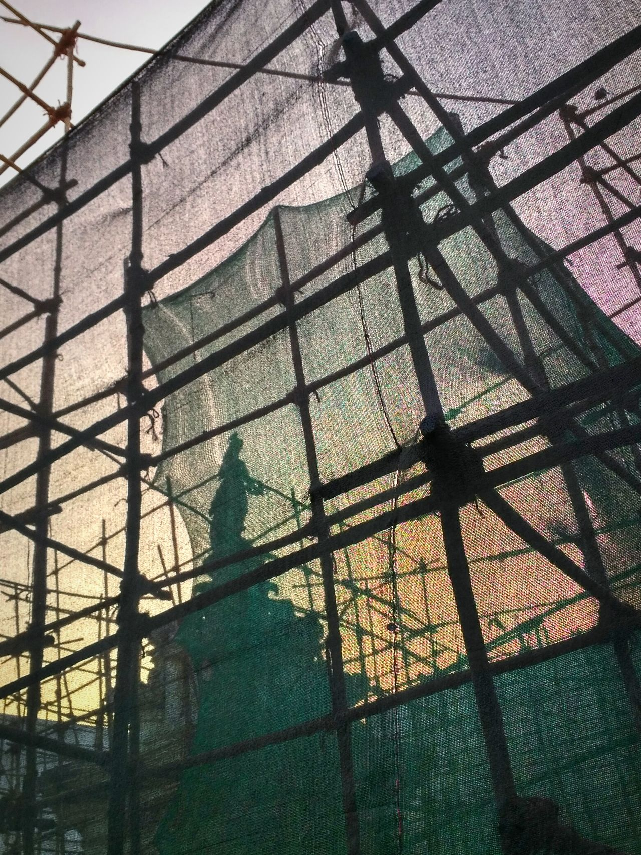 Low Angle View Sky Netting Built Structure Architecture MumbaiDiaries Travel Dairies Mumbai Sculpture City Outdoor Photography Orange Sky No People