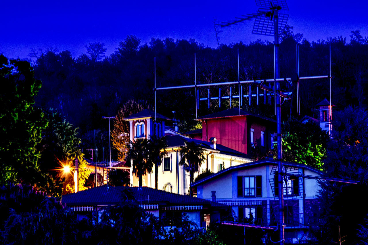 Aerial Long Exposure Shot Night-time Lighting Nightphotography Old Buildings Turret