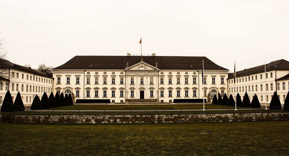 Building Exterior Berlin Architecture City Grass Government Built Structure Façade No People Royalty Schlossbellevue