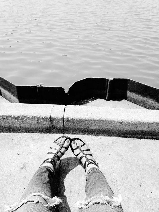 Sandals OpenEdit Lake Buckeyes Ohio Ripped Jeans Jeans Urban Blackandwhite