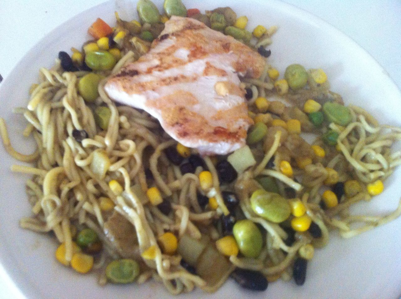 Dinner Corn Broadbeans Noodles Pasta Chicken Steak Blackbeans Blessed