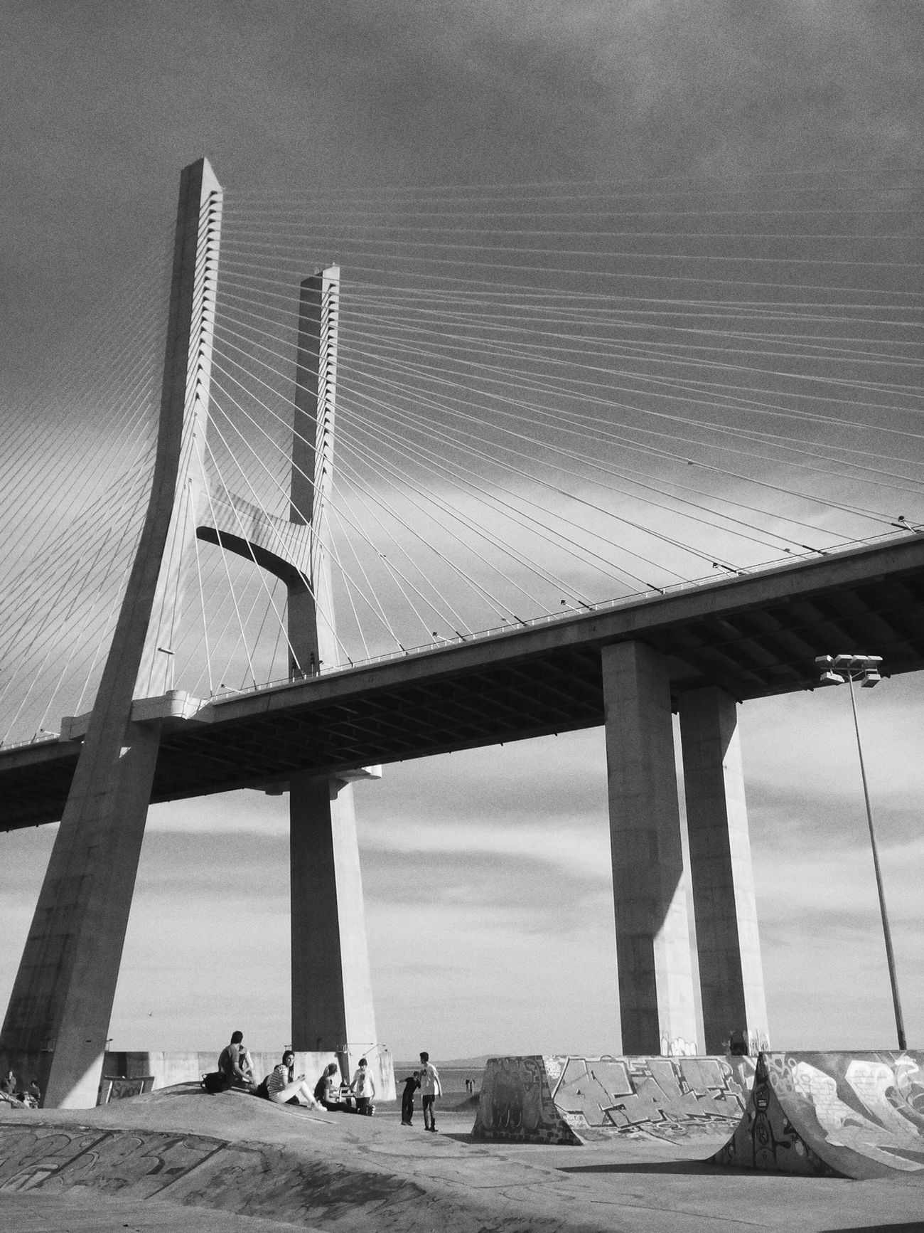 Bridge II . Parque Das Nações Lisboa Lisbon Portugal First Eyeem Photo EyeEm Best Shots - Black + White EyeEm Best Shots - Architecture Urbanphotography Architecture_bw Monochrome