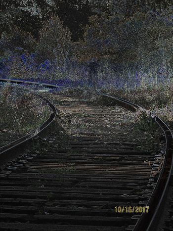 Old Tracks Never Die, Taking A Walk With Midos, Blue Color Railroad Track