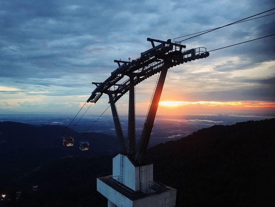 26 Apr 2017 sunset II Sky Cloud - Sky Sunset Clouds And Sky Cable Car