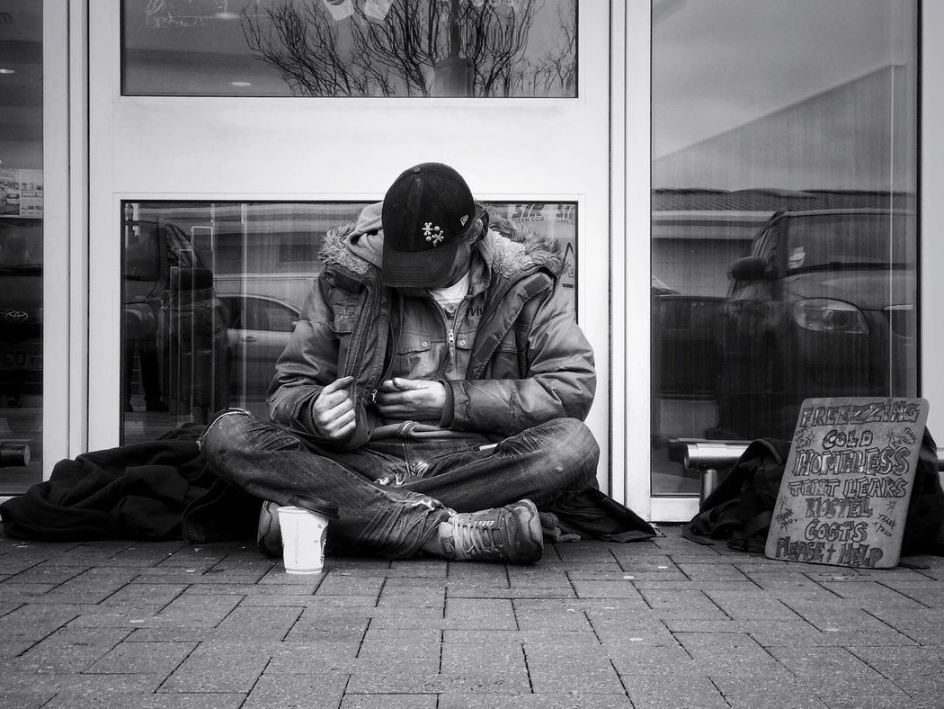 www.justgiving.com/crowdfunding/ourhomeless - Charity Helping Others Helping Help Help Our Homeless People Help Our Homeless Full Length Only Men One Man Only One Person Adults Only Front View Indoors  Wireless Technology Adult Real People Portrait Men Day Homeless Homelessness  Mobile Conversations When None Of This Really Matters