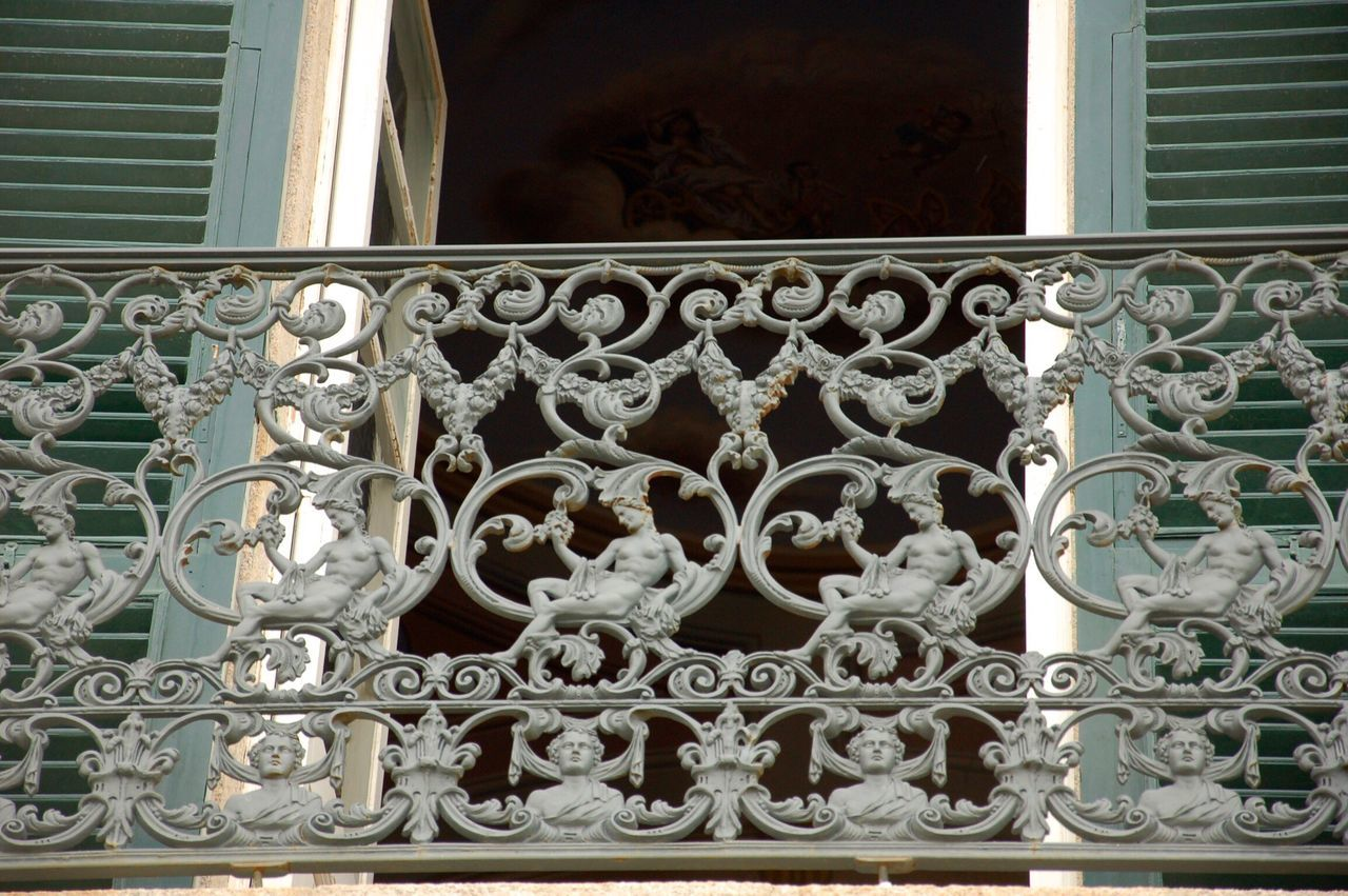 Balcony Window No People Built Structure Day Close-up Outdoors Architecture Italy Metalworking Artful Still Life
