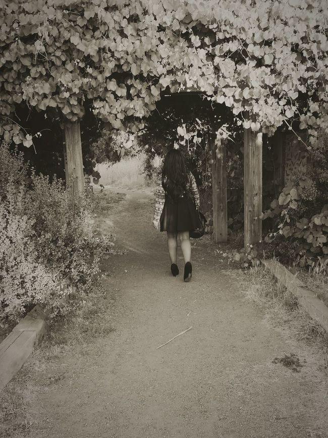 Took a little stroll. Enjoying Life Beautiful Photography Summer Dress Fashion Monochrome Dark Lost In Wonderland Archway