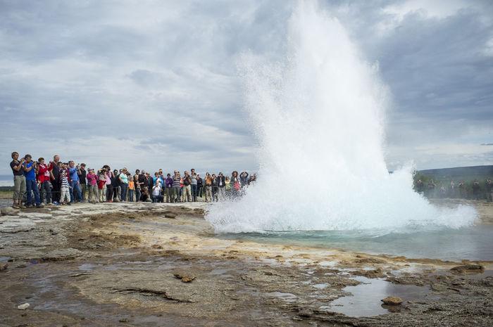 How Do You See Climate Change? Iceland Geysir Tourists Globalwarming