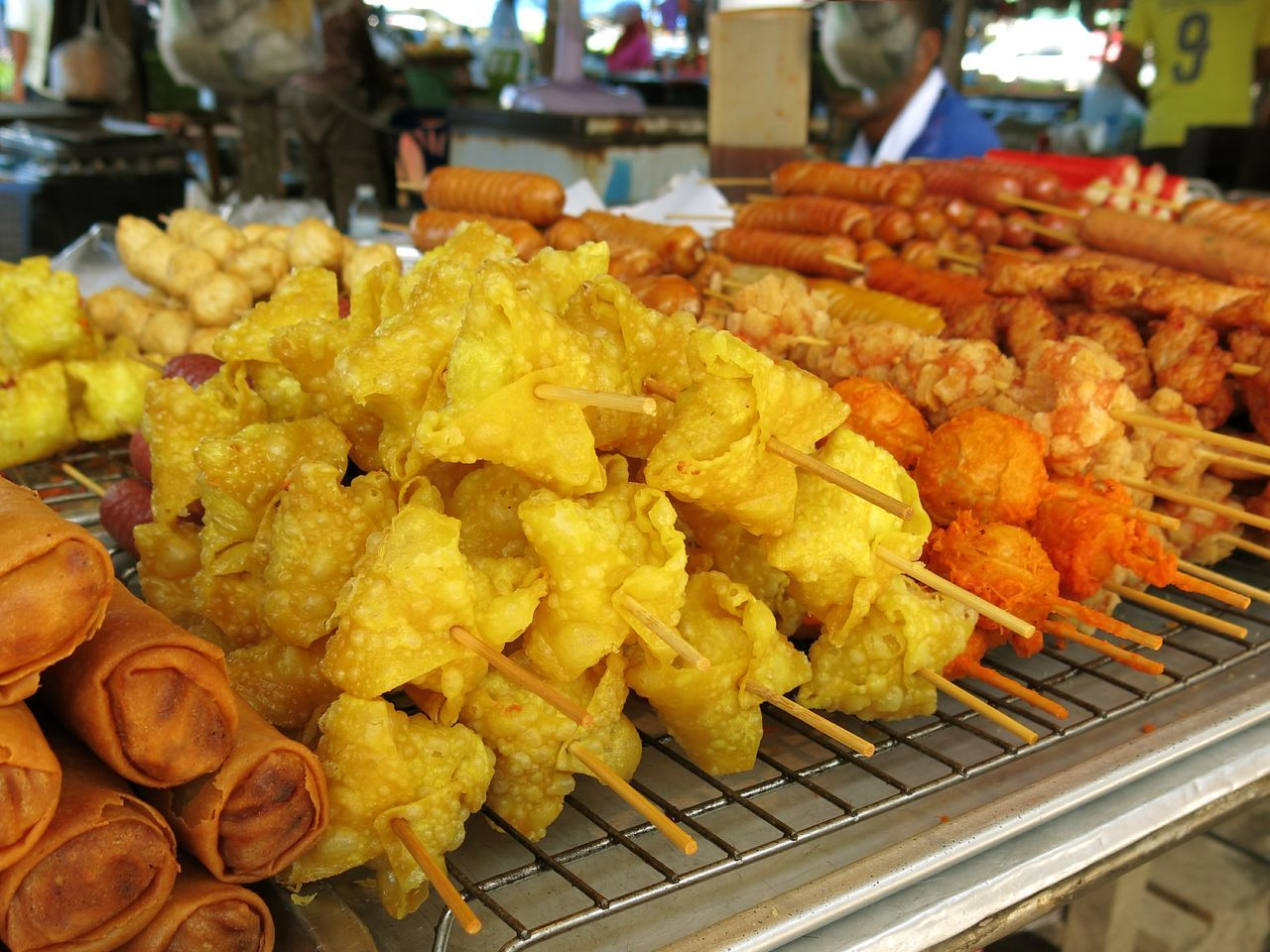 Thai streetfood on a farmer market. Barbecue Close-up Day Farmer Market Focus On Foreground Food Food And Drink Freshness Indulgence Market No People Outdoors Ready-to-eat Retail  Streetfood Take Away Food Thai Food Thai Street Food Typical Unhealthy Eating