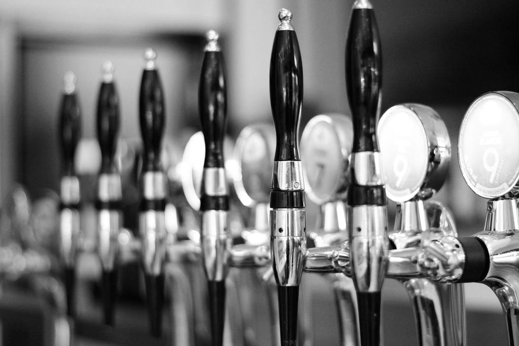 cheers ! .. in Black And White Monochrome Close-up Indoors  Beers In A Row Beer Dispenser Day Beer Time Beer Anyone?  Beer Lovers Cheers ! From My Point Of View Take Photos Eye4photography  EyeEm Gallery The Week Of Eyeem