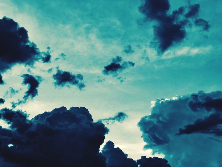 Sky Cloud - Sky Low Angle View Silhouette Nature Beauty In Nature No People Outdoors Tranquility Day Scenics Blue