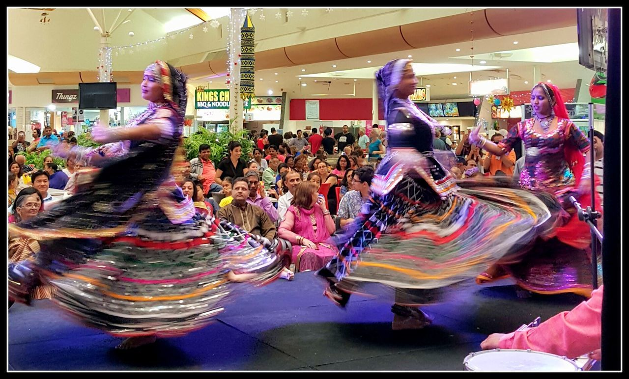 Adult Adults Only Ballet Dancer Celebration Cultures Dancing Diwali Full Length Indian Folk Dance Indoors  Kingsway Large Group Of People Multi Colored People Performance Performing Arts Event Perth Women Women Around The World