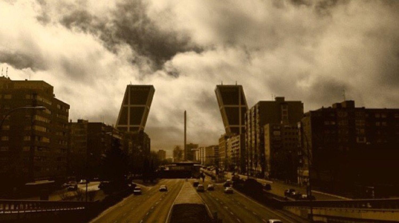 Sky Madrid España SPAIN Carreta Cielo Cuatrotorres  Torres Puente Vistas Coches Street Calle