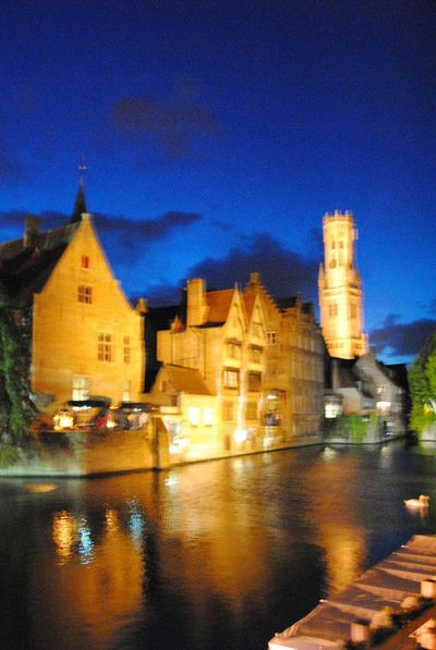 By Night Architecture Reflection Building Exterior Illuminated Night Water Outdoors City Last Photo BrugesCanal Traveling Last Shot No Battery Sky Clouds Reflections In The Water Reflections On The River Blurred Effect