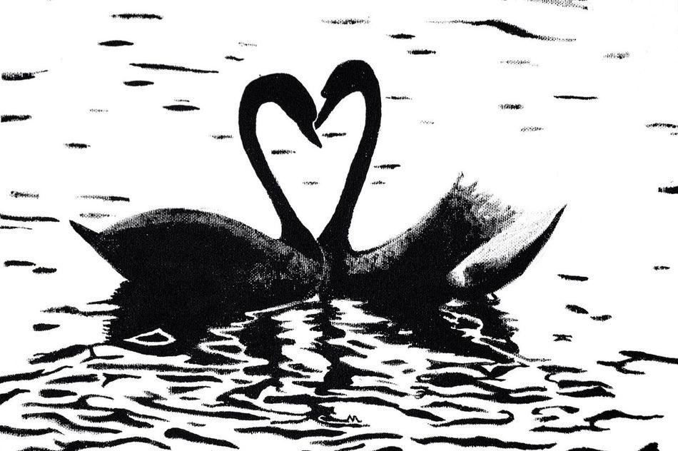 This is another canvas I created, using Black Acrylic Paint. I recently sold it to a loving, swan friendly home. I cannot describe how at peace I feel when I paint, or work on any of my art projects. My favourite aspect, is that our emotions mix into our work showing small parts of our soul. Heart Shape Love Paper No People Water Day Close-up Nature Outdoors Paint Painting Acrylic Painting Canvas Art ArtWork Breakdance Project Artist Photography EyeEm Gallery EyeEmBestPics EyeEm Best Shots Trapped Soul Expression