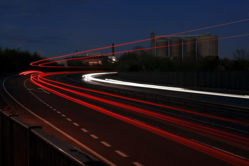 Car Lights High Way Light Trail Light Trails Long Exposure Long Exposure Night Photography Long Exposure Photography Long Exposure Shot Motion Motor Way Night Outdoors Red Road Speed Speedway