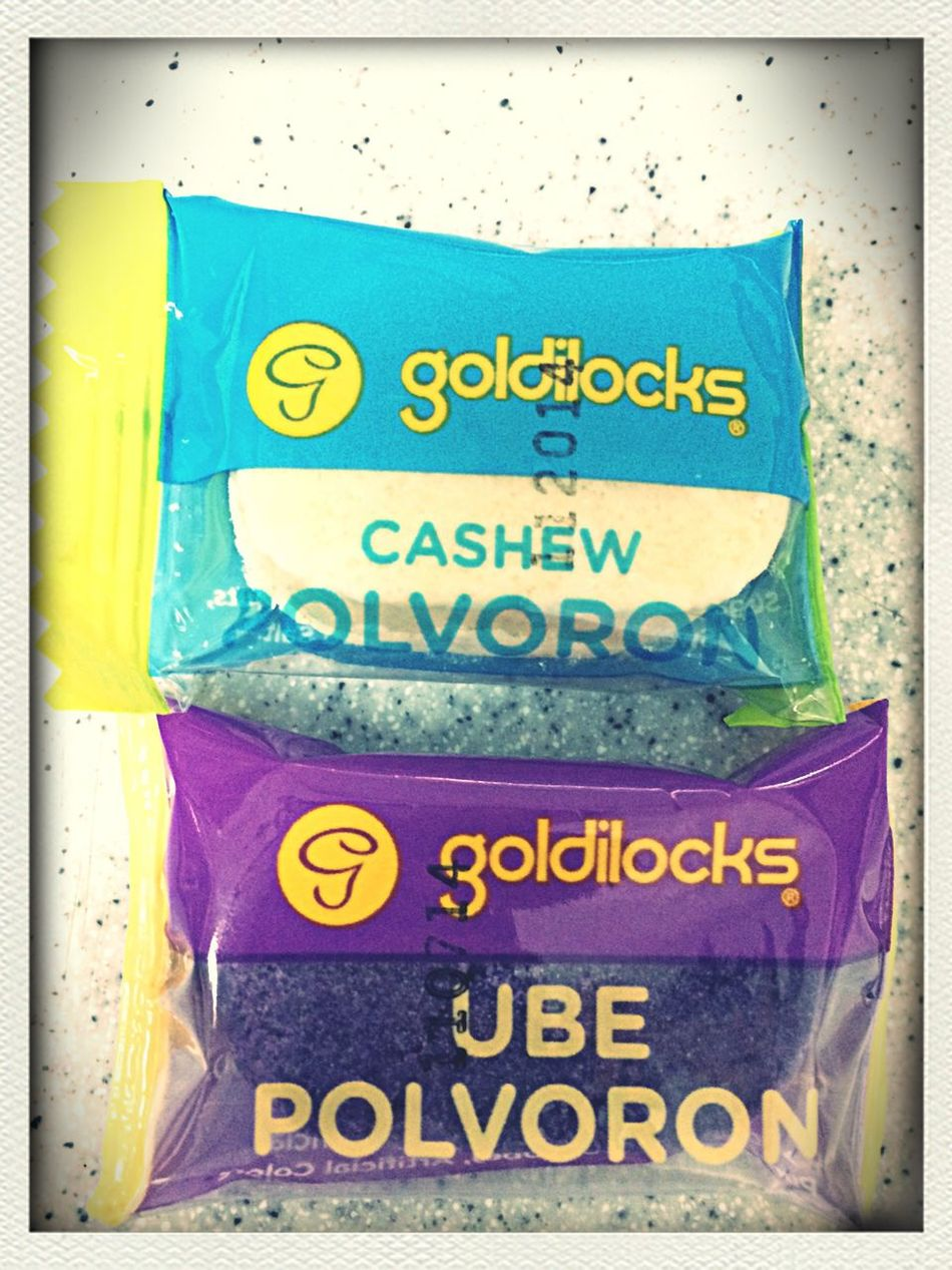 All The Way From Home ...goldilocks Polvoron Ube And Cashew!😋😋
