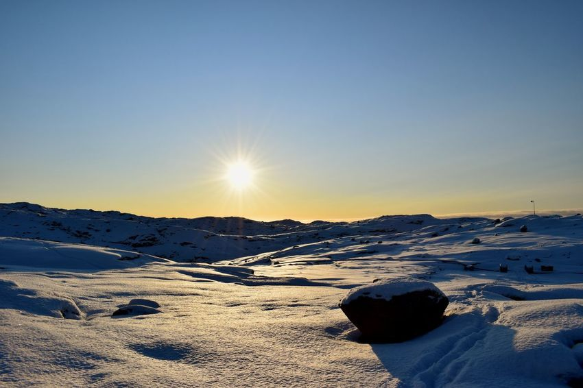 Greenland Photography Is My Escape From Reality! Amazing View Snow Rocks Sunny Winter Day EyeEm Innaarsuit Rocks And Sky Beauty In Nature Outdoors Place To Be  Snow ❄ Places You Must To See
