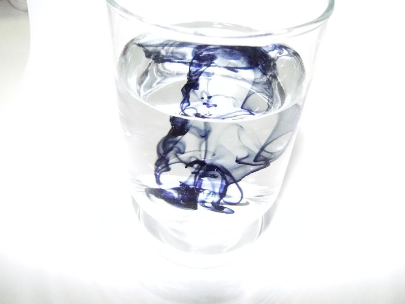 Close-up Colored Water Focus On Foreground Glass - Material No People Refreshment Still Life Studio Shot Water White Background