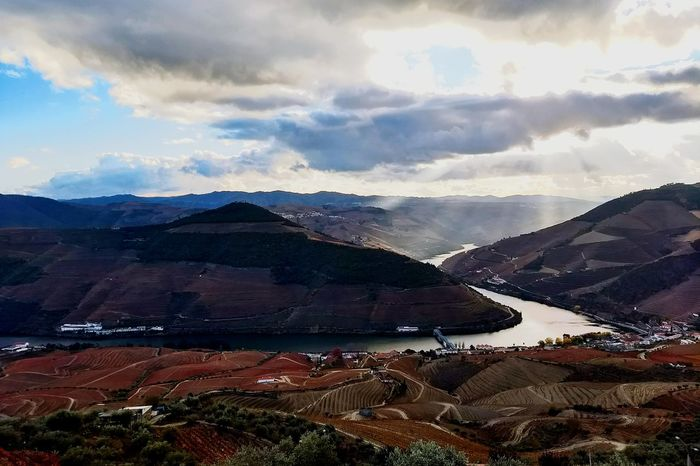 Mountain Landscape Cloud - Sky Nature Scenics No People Beauty In Nature Snow Outdoors Day Water Sky in Douro  Valley Porto Portugal