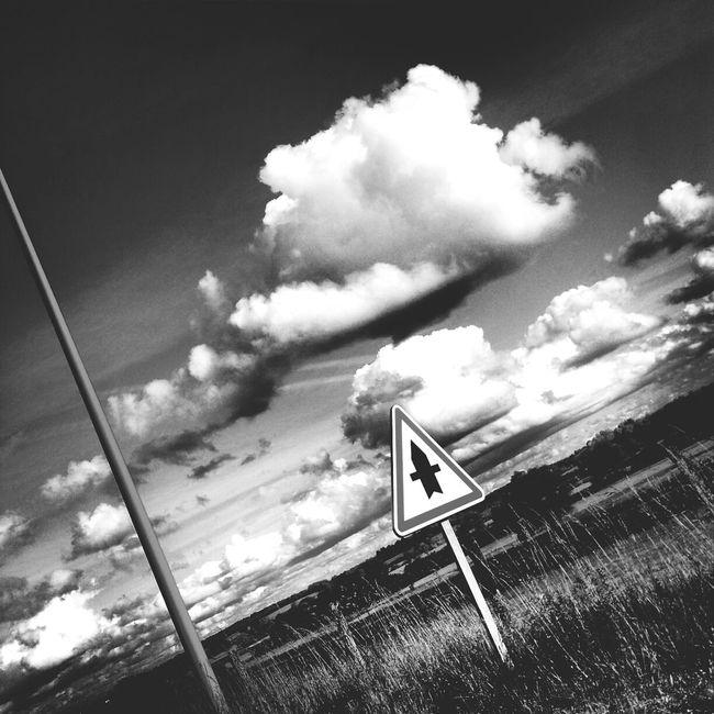 Nuages Ciel Taking Photos Noir Et Blanc