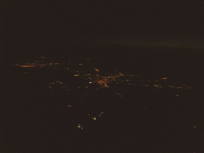 From An Airplane Window Air Travel  Night Flight