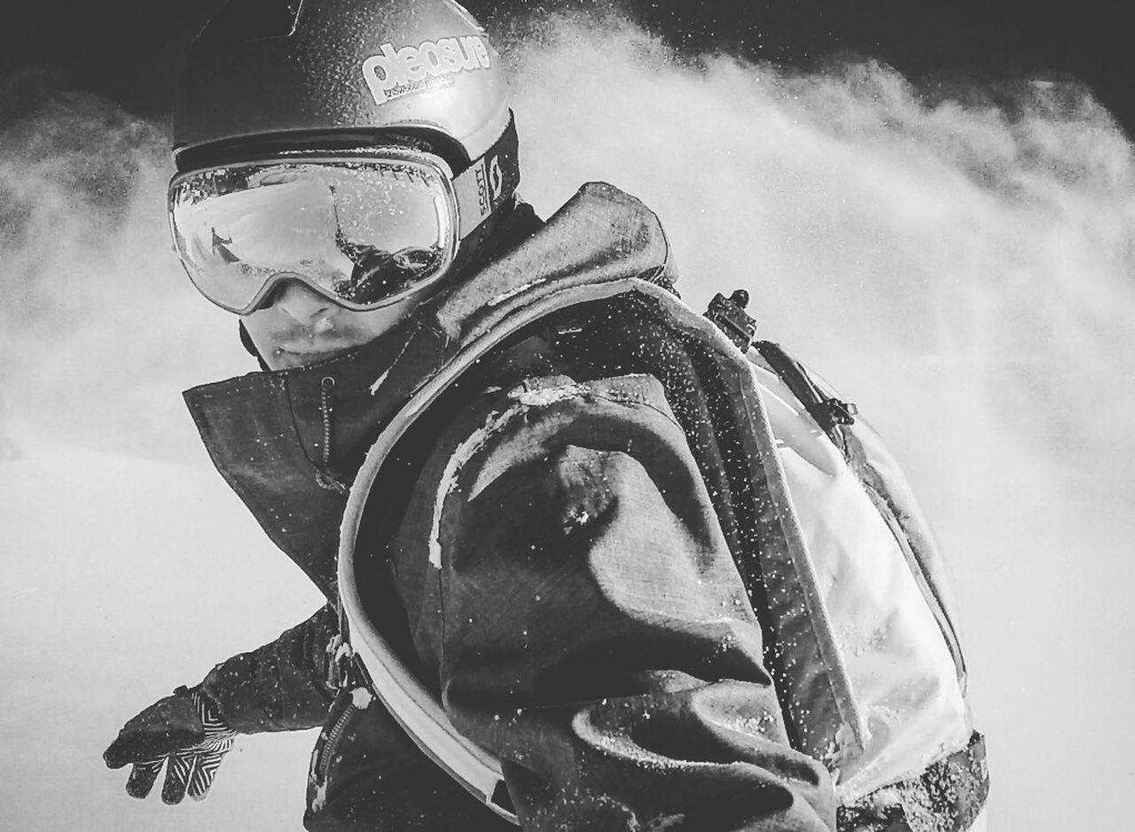 Snowboarding Austria Alps 87kph Shredded Blackandwhite