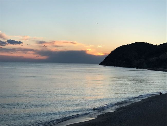 Some places don't need filters 😍 Seascape Levanto. Italy❤️ Cinque Terre Traveling
